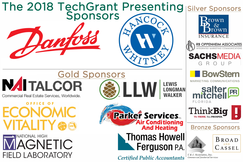 2018 TechGrant Sponsors