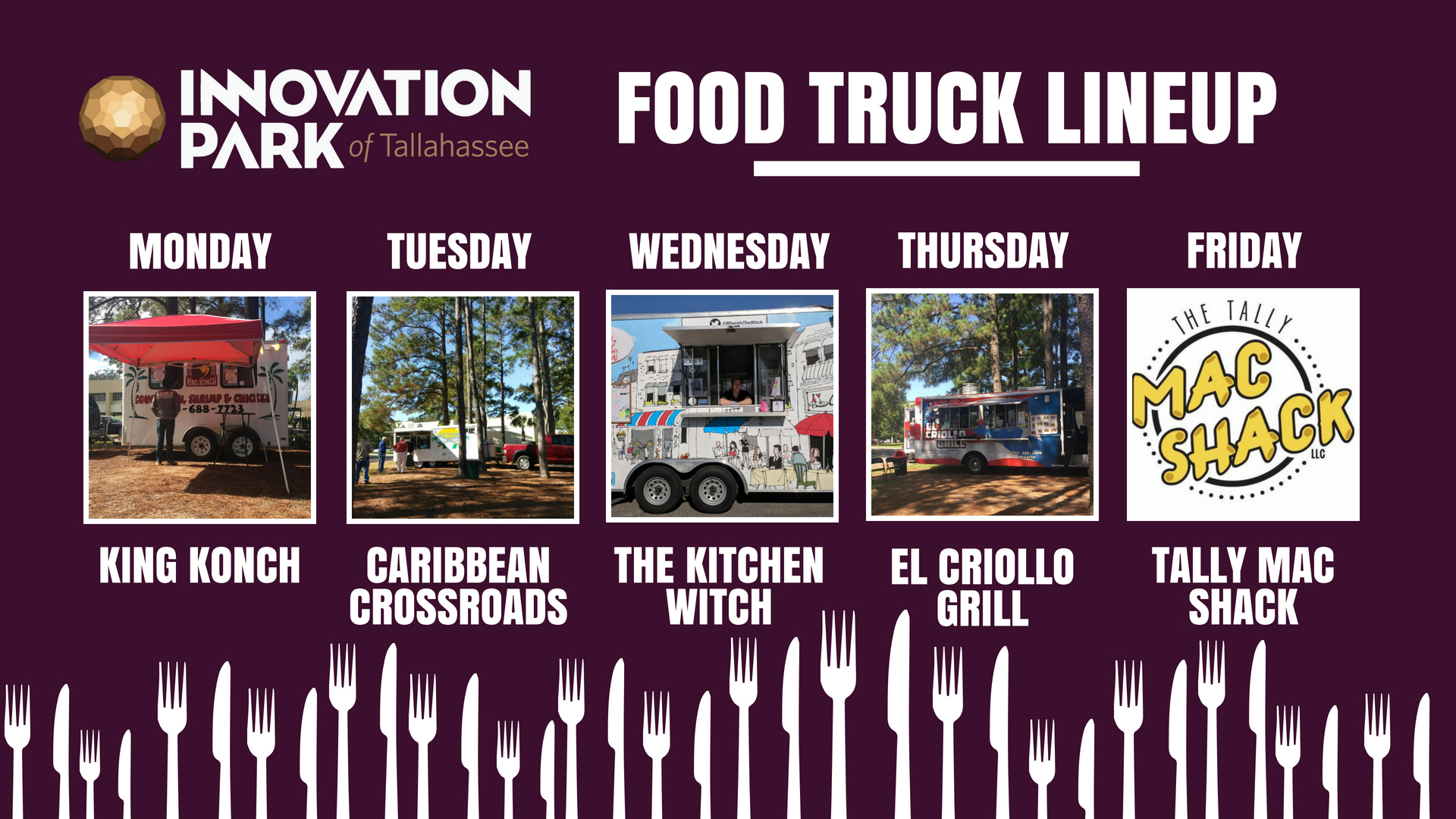 Innovation Park Foodtruck Lineup