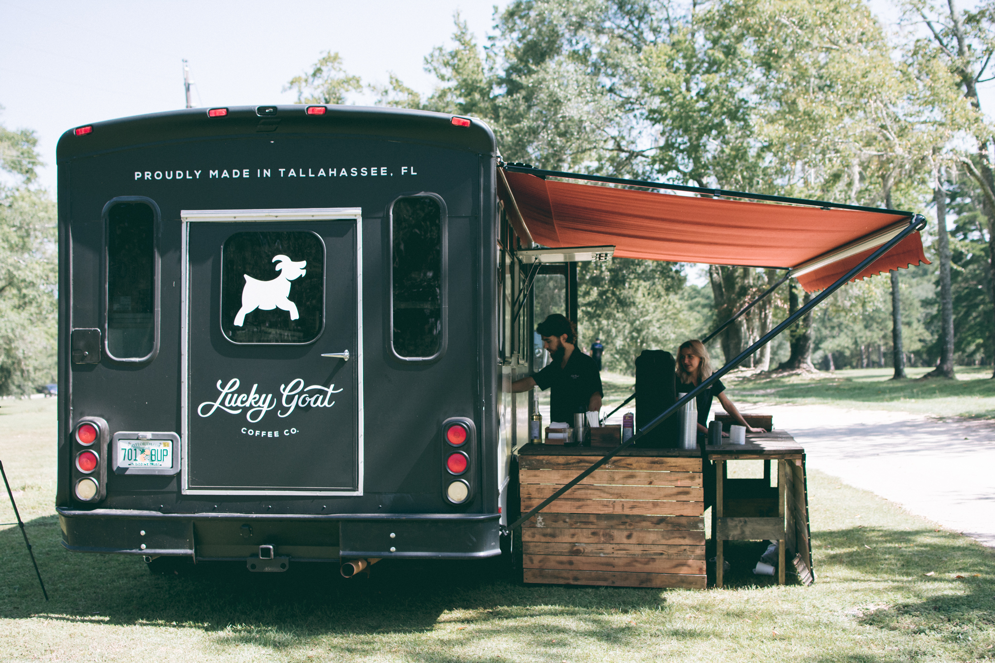 Lucky Goat serving coffee to Innovation Park of Tallahassee residents