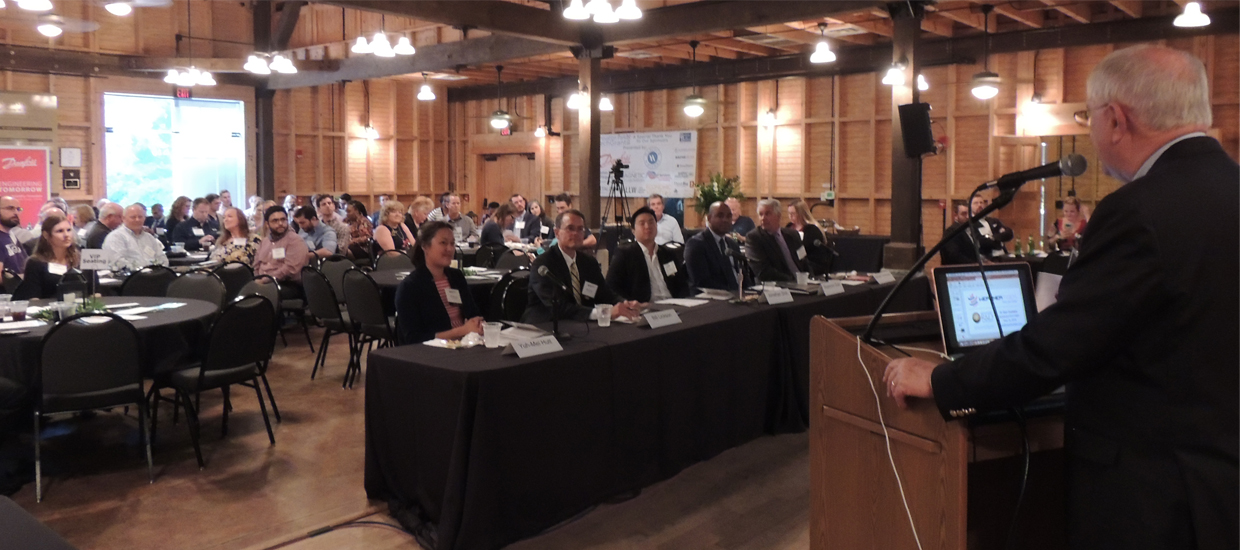 2018 Innovation Park Technology Commercialization Grant that took place on May 16th, 2018 at Goodwood Museum and Gardens. 5 local entrepreneurs presented their technology to the public for a chance to win up to $15,000