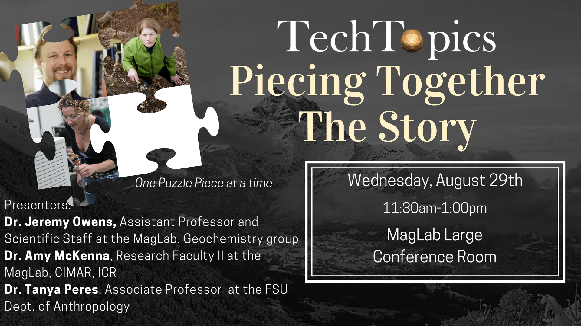 Piecing together the story- Innovation Park of Tallahassee August 2018 TechTopics