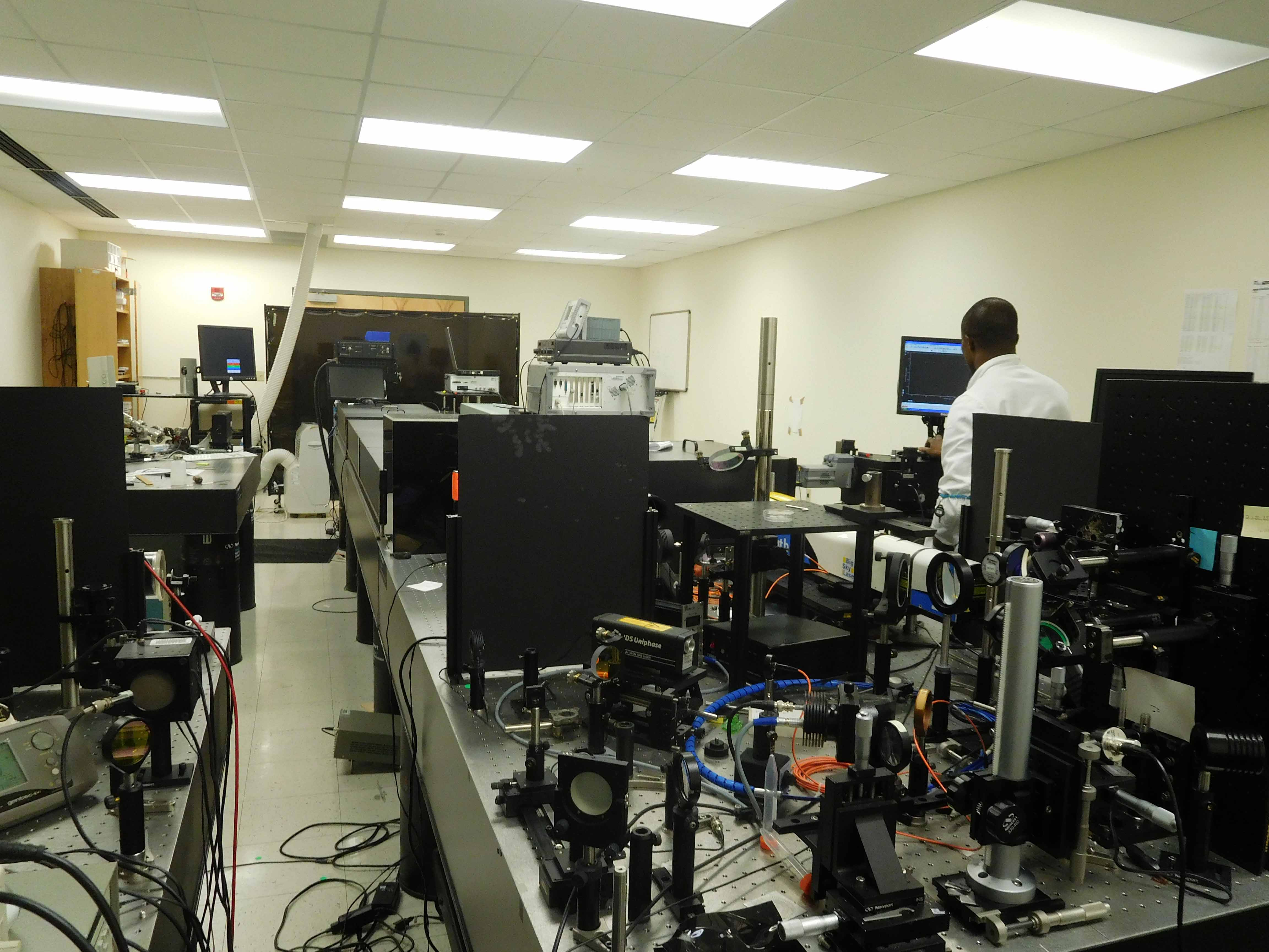 The FAMU Center for Plasma Science and Technology hard at work with lasers