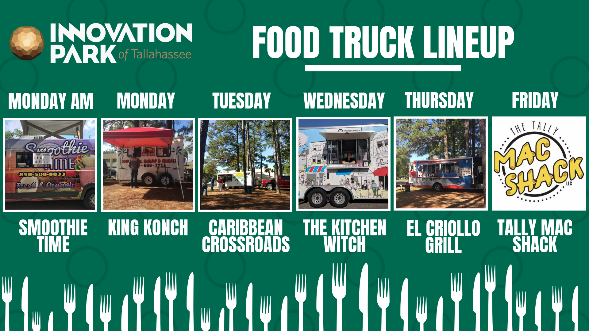 foodtruck updates at Innovation park of tallahassee