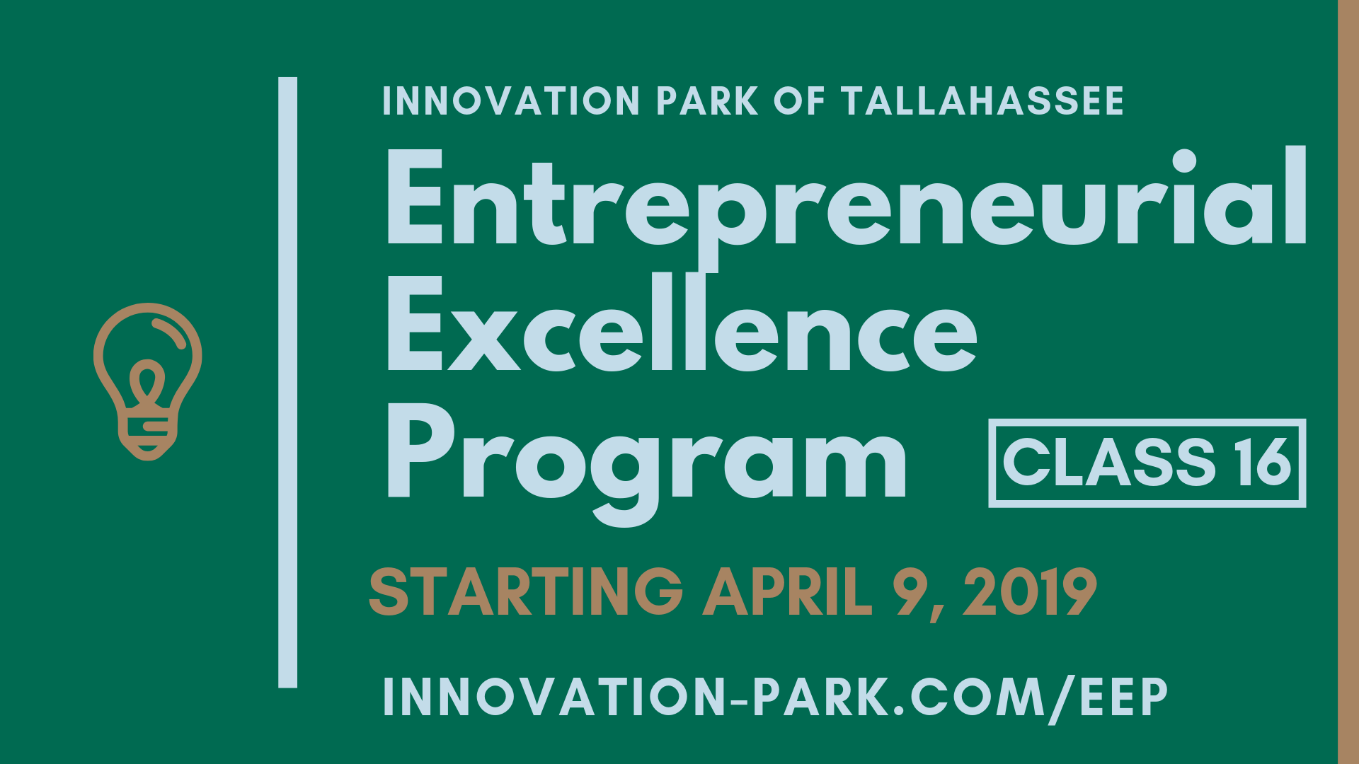 EEP Class 16 for Innovation Park Entrepreneurs