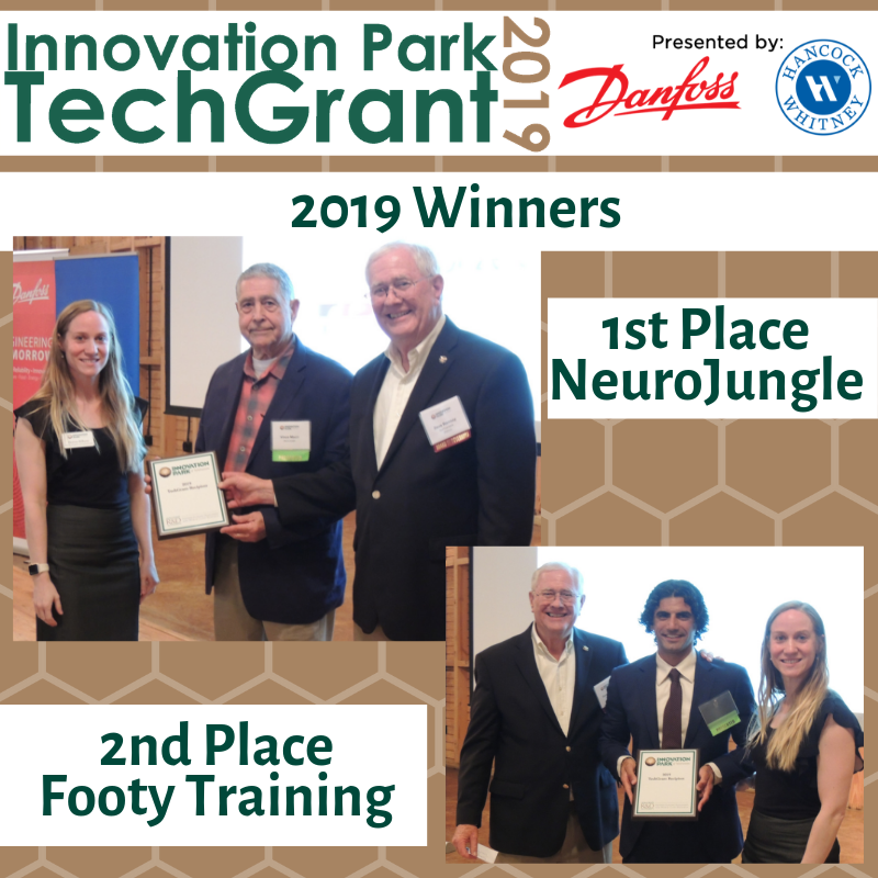 Innovation Park of Tallahassee 2019 TechGrant Winners are NeuroJungle and Footy Training