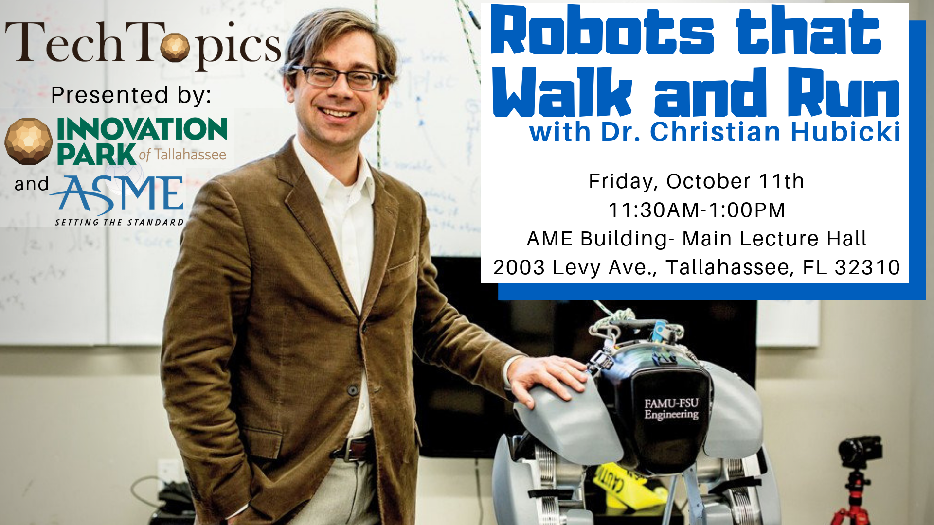 TechTopics featuring Hubicki and robots